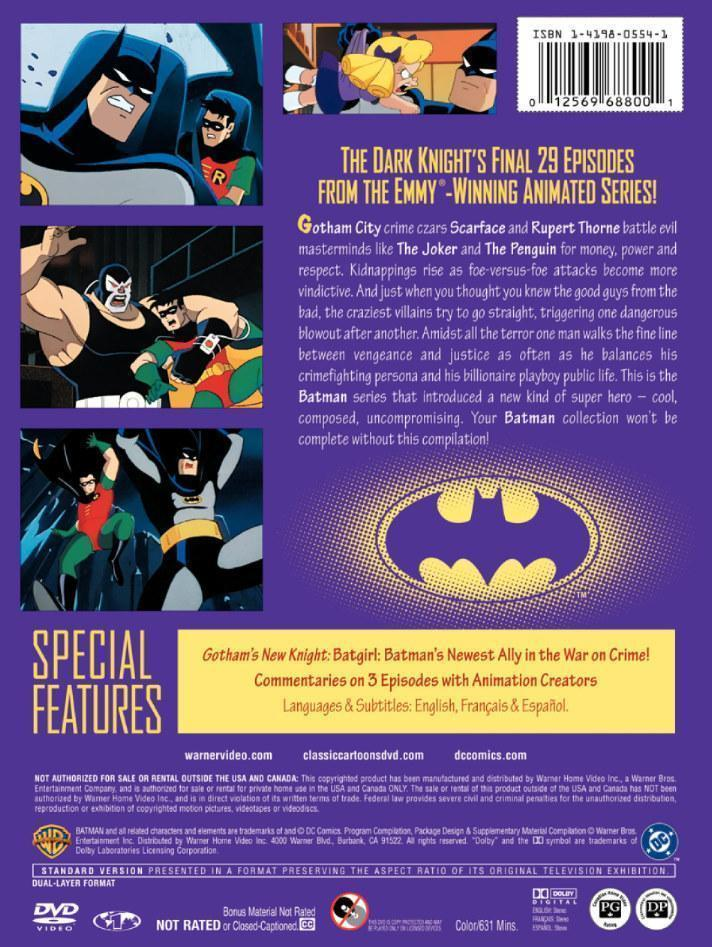 Batman The Animated Series Dvd