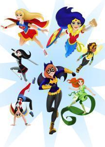 Current DC Super Hero Girls designs, characters