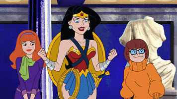 Wonder Woman and Scooby